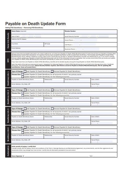 Free 51  Death Forms In Pdf