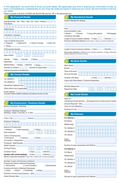 personal loan fixed rate application form