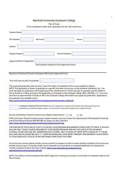 simple graduate form