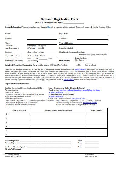 student graduate form