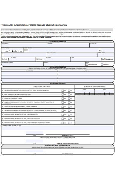 third party authorization form