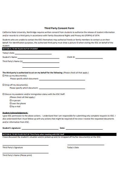 third party consent form