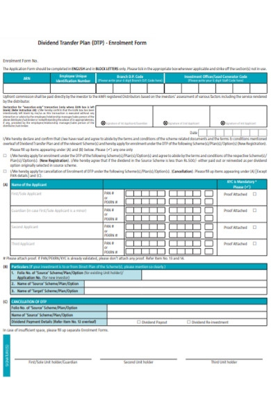 transfer plan enrollment form