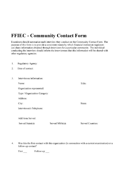 community contact form