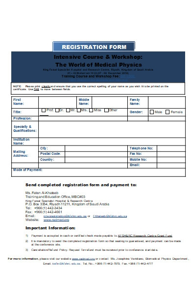 hospital registration form format