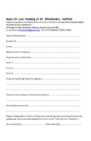 music application form