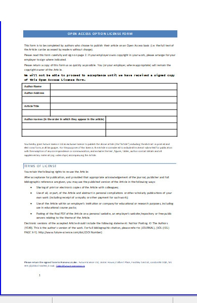 open access option license form1