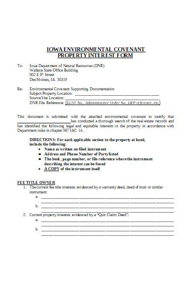 property interest form