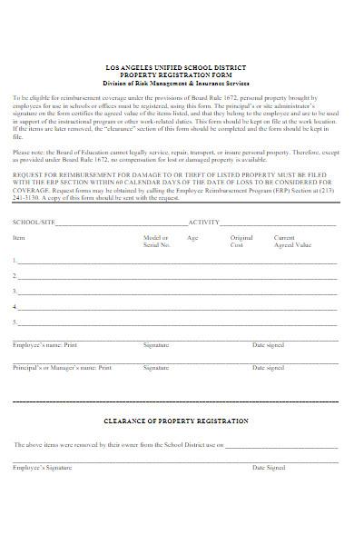 property registration form
