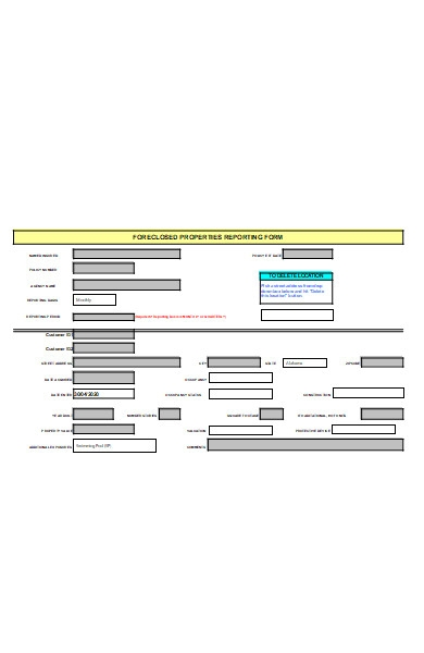 property reporting form