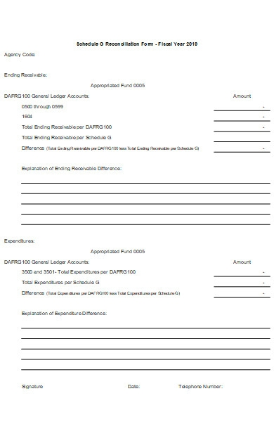 schedule reconciliation form