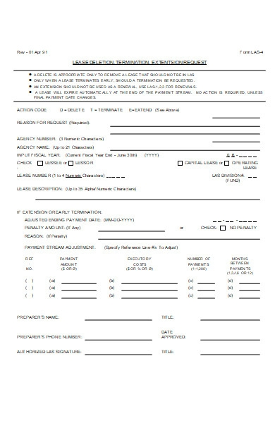 lease extension request form