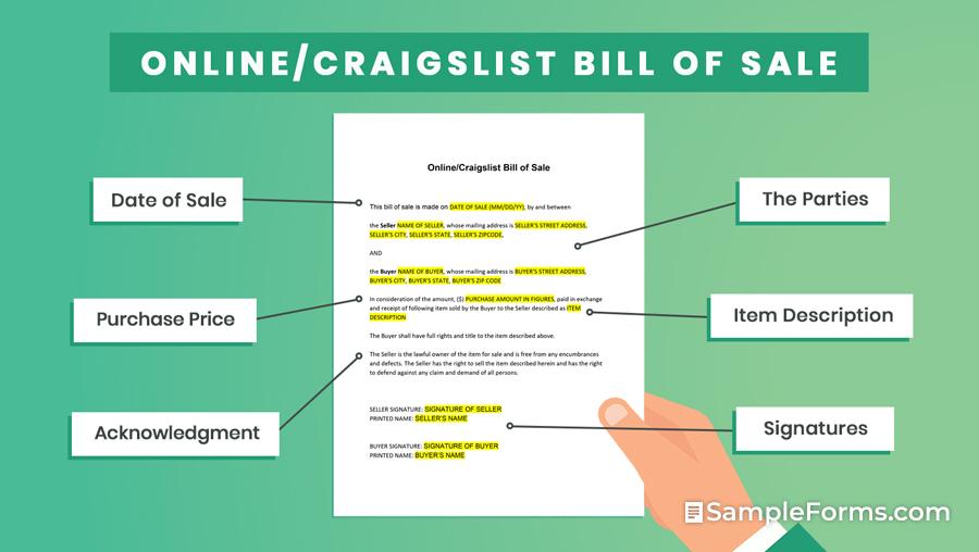 OnlineCraigslist Bill of Sale