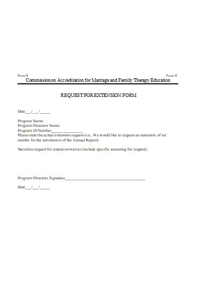 simple request for extension form