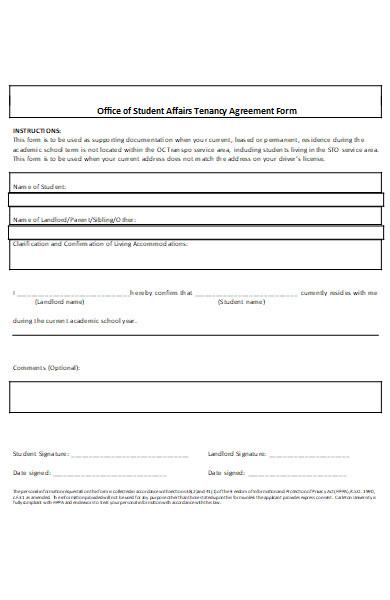 tenancy agreement application form