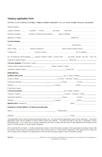 tenant application forms in pdf